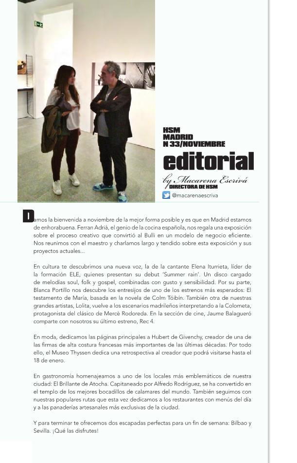 Revista HSM Nº 33. Ferran Adrià