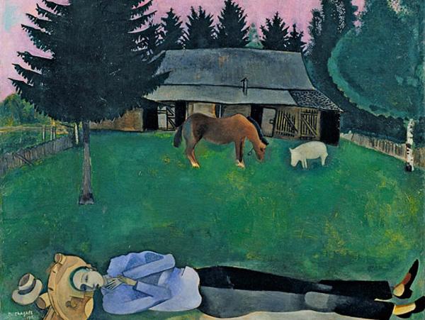 Chagall en el Museo Thyssen Bornemisza