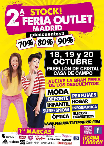 Adquiere las mejores marcas en Stock! Feria Outlet Madrid