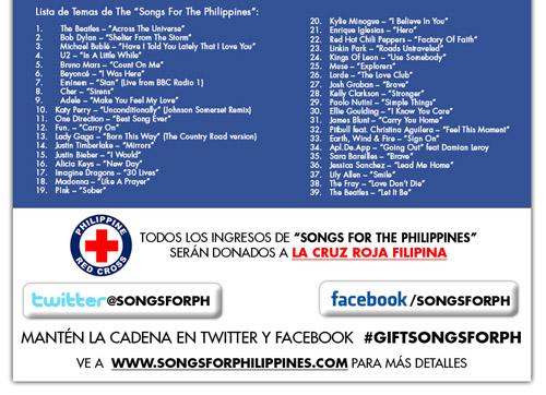 Compra una canción en iTunes y ayudarás a Filipinas