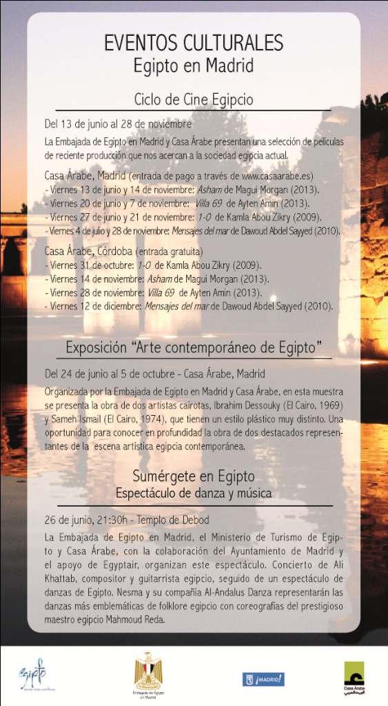 Egipto celebra un ciclo de eventos culturales en Madrid este verano