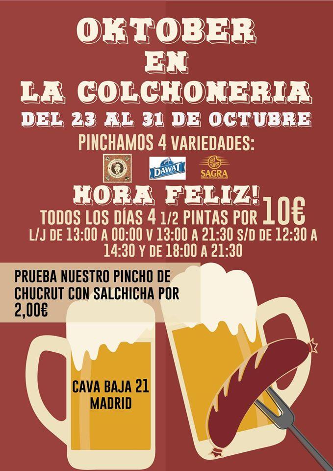 La cerveza inunda la Colchonería de la Camarilla