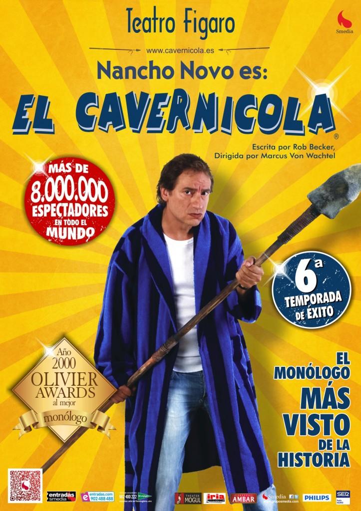 ¡Sorteamos dos entradas dobles para 'El cavernícola', el monólogo más visto de la historia!