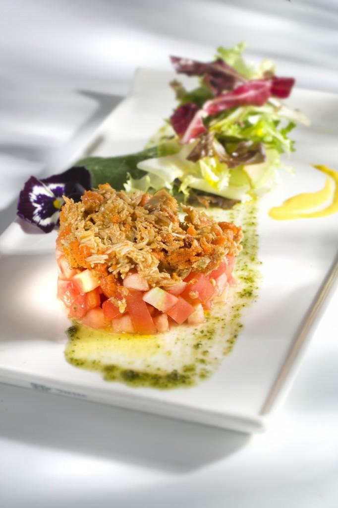 Ensalada de centollo con lechuga y tomate B