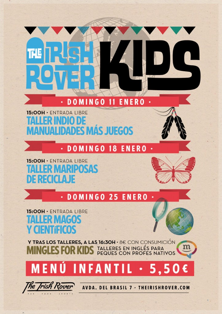 Clases de inglés en The Irish Rover Kids