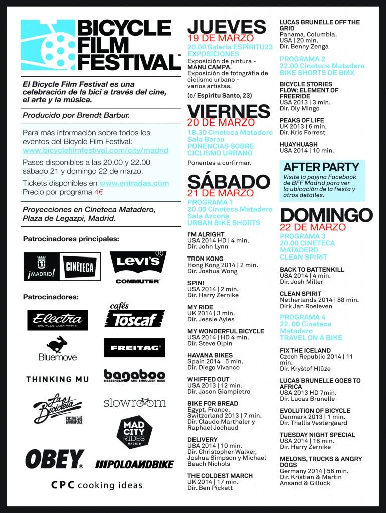 3ª edición de Bicycle Film Festival en la Cineteca del Matadero