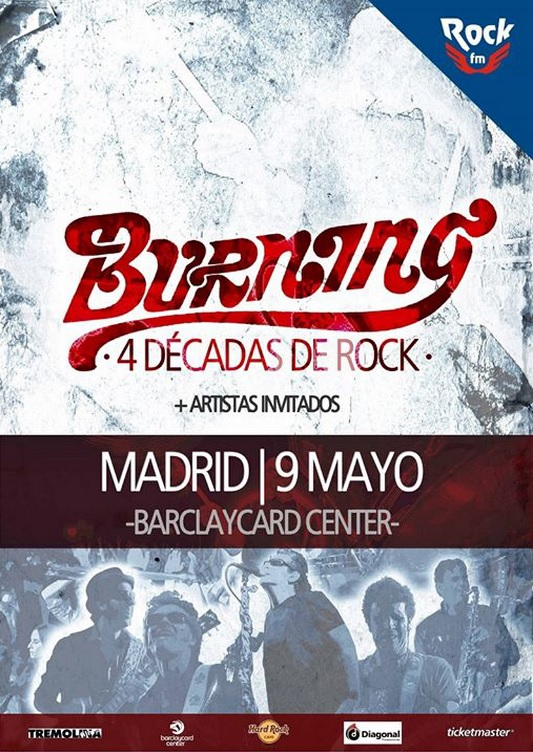 Burning: celebran 40 años de rock en el Barclaycard Center