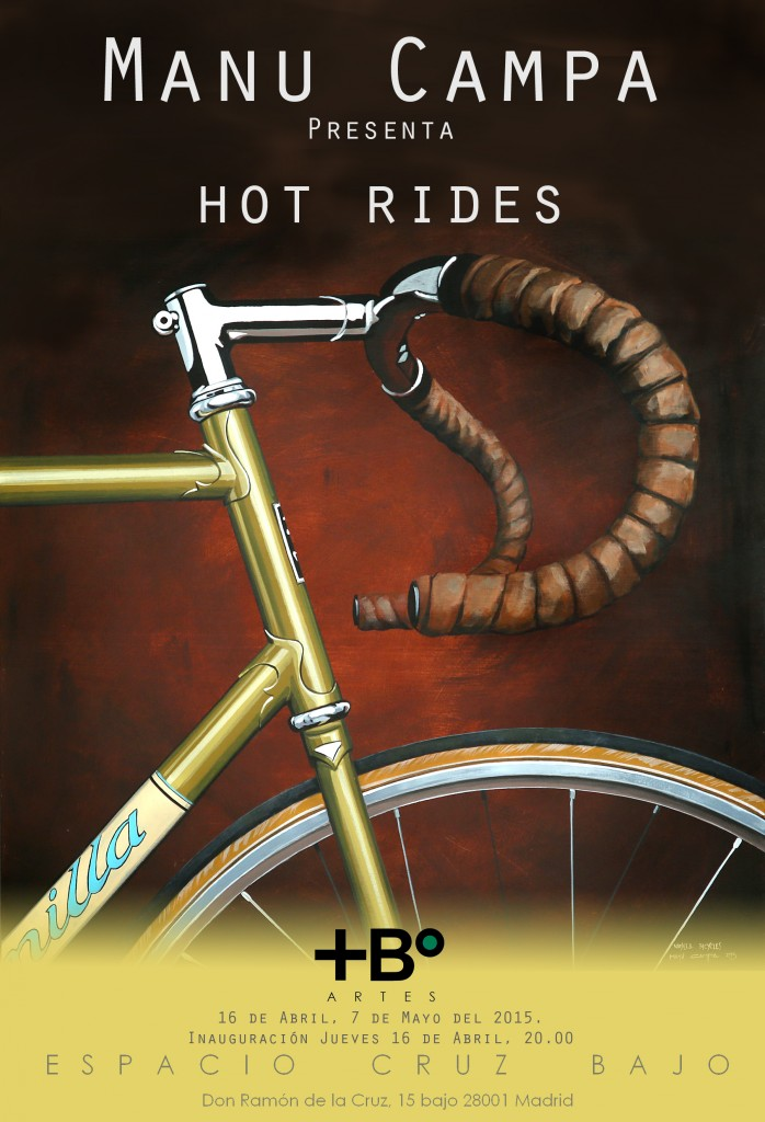 Cartel exposición `Hot Rides' by Manu Campa