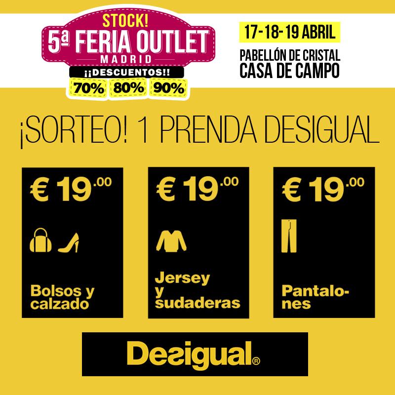 Sorteamos una prenda de Desigual en Stock! 5ª Feria Outlet Madrid