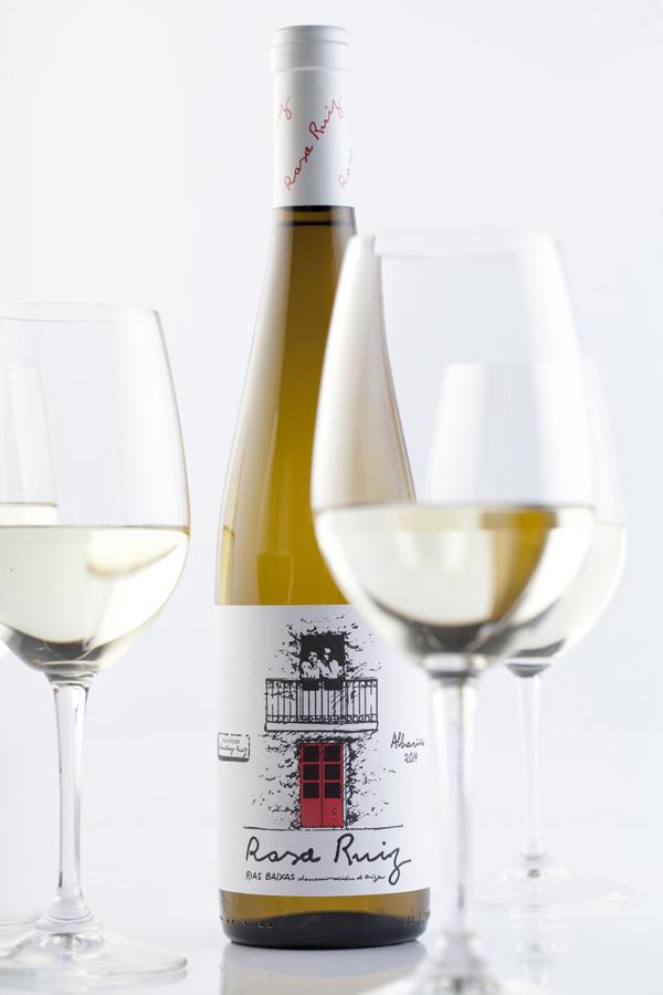 Botella Rosa Ruiz 2014 y copas