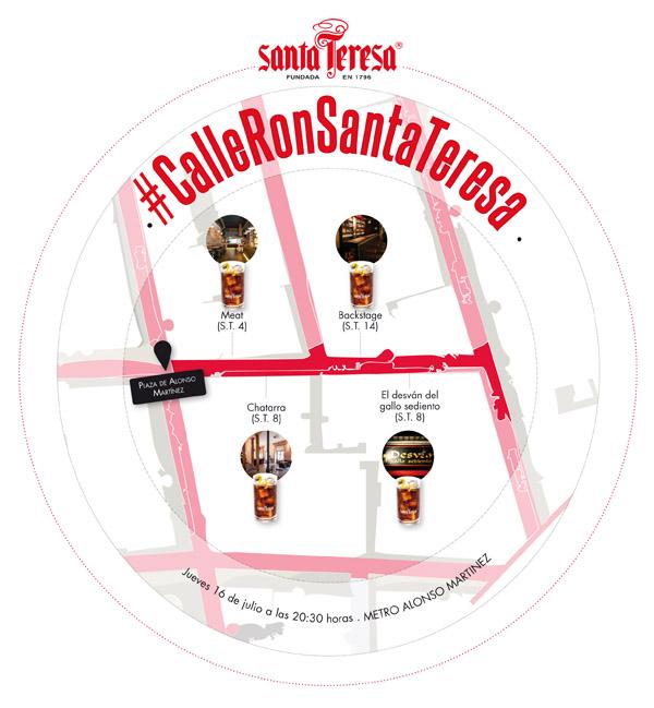 #CalleRonSantaTeresa, el 16 de julio, el ron cola perfecto al alcance de un tweet