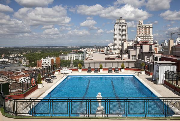 Vista piscina Hotel Emperador Madrid