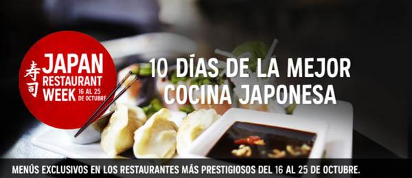 Sorteamos un menú para dos para la Japan Restaurant Week