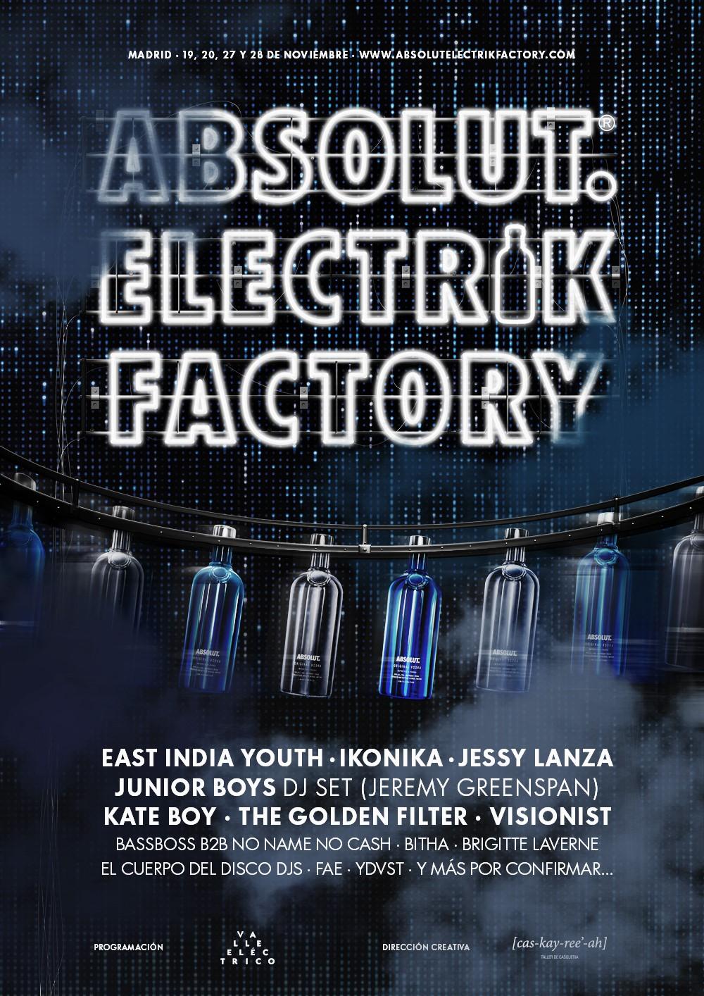 Absolut Electrik Factory, 4 noches de música electrónica