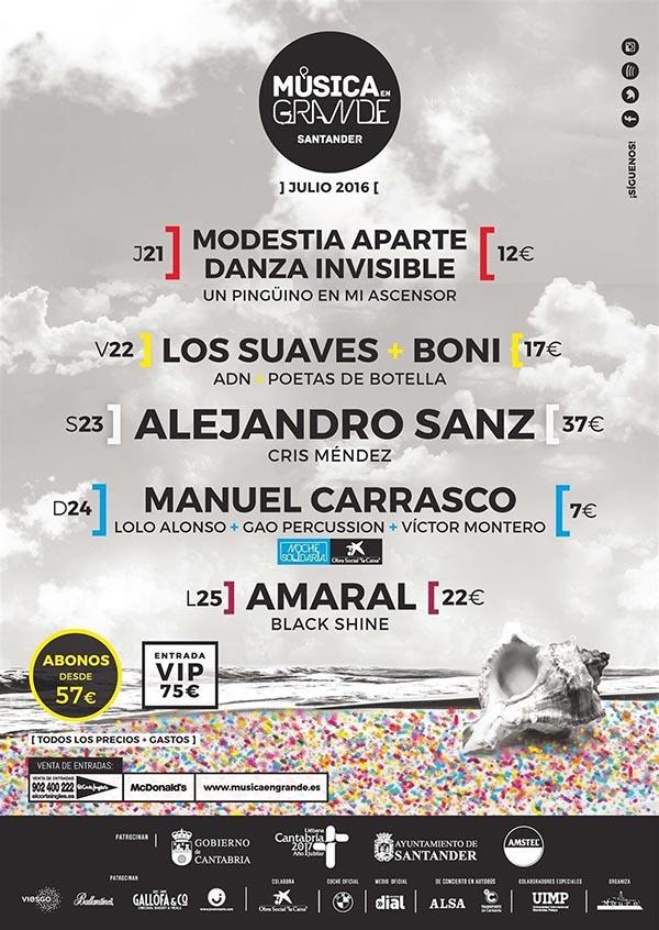 Música en grande, 5 días de conciertos en Santander durante julio