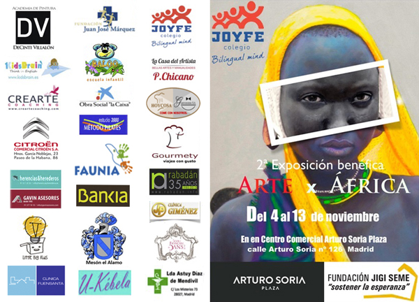 Arte x África, una exposición benéfica en Arturo Soria