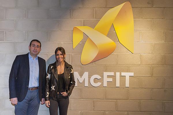 Cristina Pedroche y el director de McFIT, Rafael Lirio