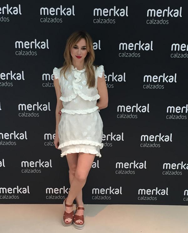 Marta Hazas presenta el primer Fashion Show de la firma Merkal Calzados