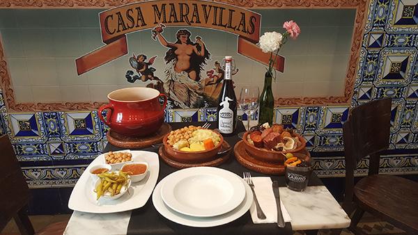 Al rico cocido madrileño en Casa Maravillas