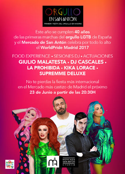 El Mercado de San Antón inaugura World Pride Madrid 2017
