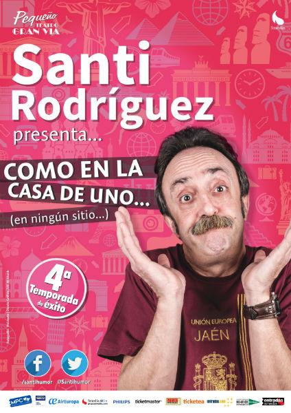 """Ganadores de 6 entradas dobles para el monólogo de Santi Rodríguez """"Como en la casa de uno"""""""