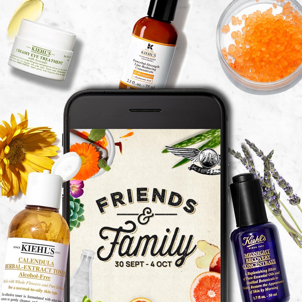 Vuelven los días Friends & Family de Kiehl's con un 25% de descuento